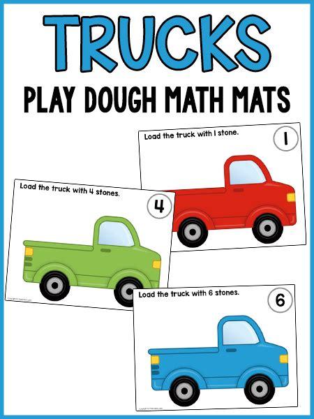printable playdough counting mats load the trucks play dough counting mats play dough mats