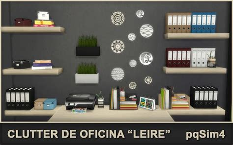 office clutter sims 4 cc sims 4 cc s the best leire office clutter by pqsim4