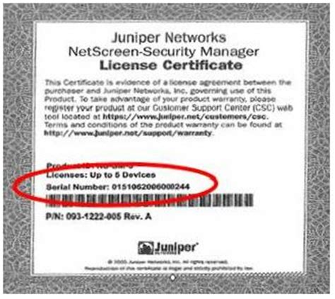 license certificate template juniper networks how do i find the idp license and nsm