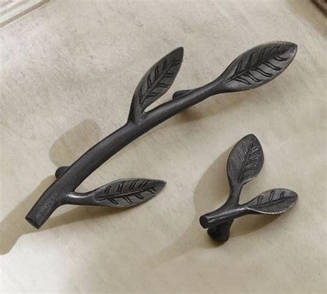 pottery barn cabinet pulls leaf hardware pottery barn finishing touch pinterest