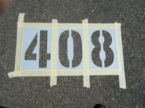 spray paint number stencils how to stencil parking lot identification numbers