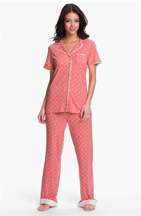 knit pajamas munki munki sleeve knit pajamas in pink seahorse