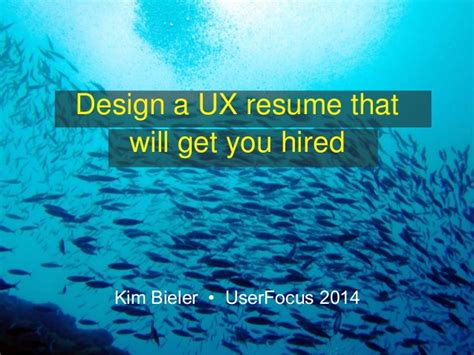 Resume Sles That Get You Hired design a ux resume that will get your hired