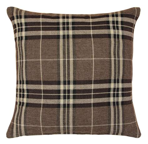 tartan curtains and cushions tartan check cushion covers filled cushions 18x18 cream