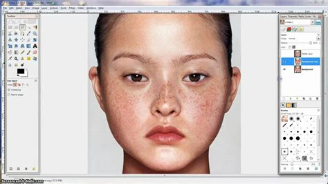 video tutorial on gimp gimp tutorial naturalistic skin and eye retouching youtube