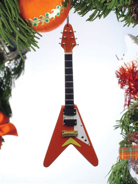 buy red electric v guitar christmas ornament music gift