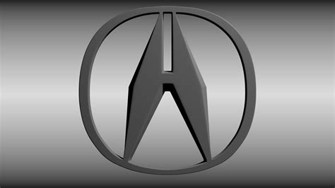 Acura Emblem Acura Logo 3d Model Obj Blend Cgtrader