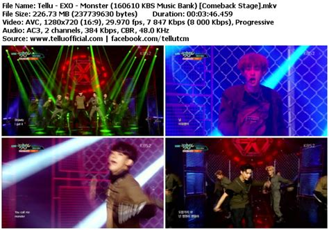 download perf exo lucky one monster mbc music core download perf exo lucky one monster kbs music bank