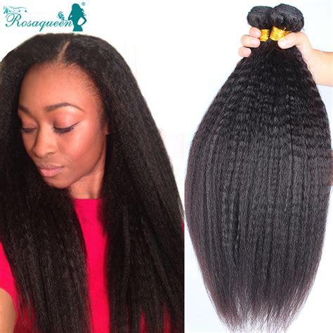 brazilian hairstyles extensions brazilian virgin hair straight coarse yaki 3 pcs lot