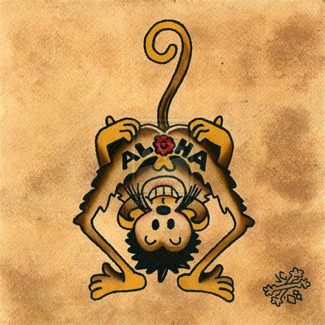 aloha monkey tattoo aloha monkey tattoos tattoos monkey