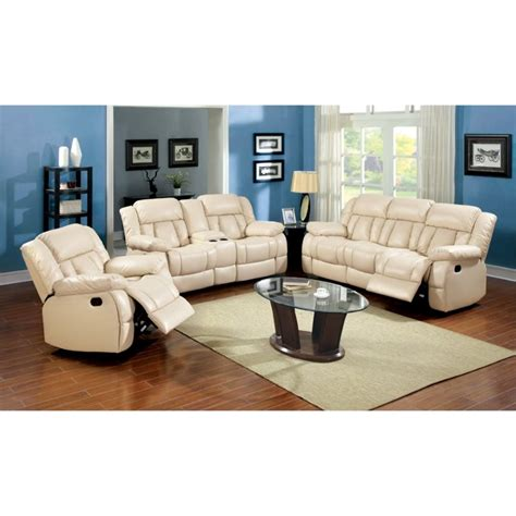 furniture of america ruggend 3 piece storage california furniture of america carrell 3 piece leather reclining sofa set idf 6827 3pc