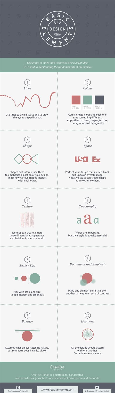elements of design graphic design infographic 10 basic elements of design creative market