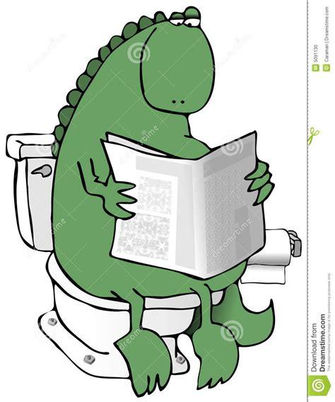 Dinosaur On A Toilet Stock Photo Image 5091130