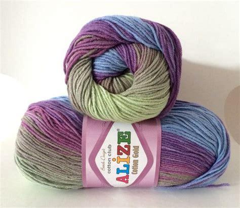 Swimsuit Ombre Batik alize cotton gold batik ombre knitting dk yarn in blue purple green 3249 100g alize