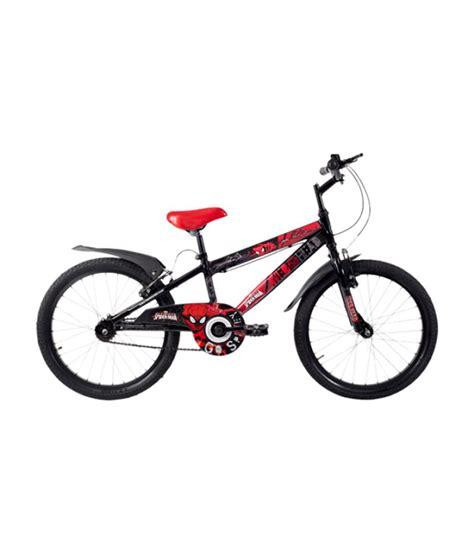 hero on a bicycle hero spiderman 20 bicycle black buy online at best price on snapdeal