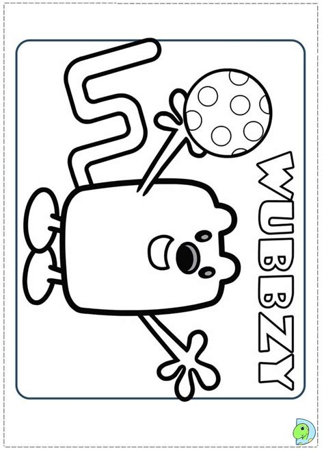 wow wow wubbzy coloring page dinokids org