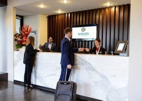 Corporate Travel Adelaide Rydges South Park Adelaide Reception Desk Adelaide