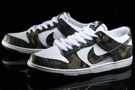Nike Sb Dunk nike sb dunk low camo 854866 331 sneaker bar detroit