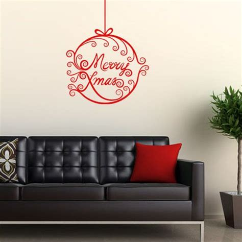 merry wall sticker merry bauble wall sticker decals
