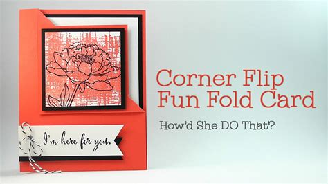 how to make a flip card easy corner flip fold card by o