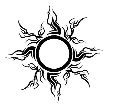 tribal sun tattoos pictures tribal leo sun best design ideas