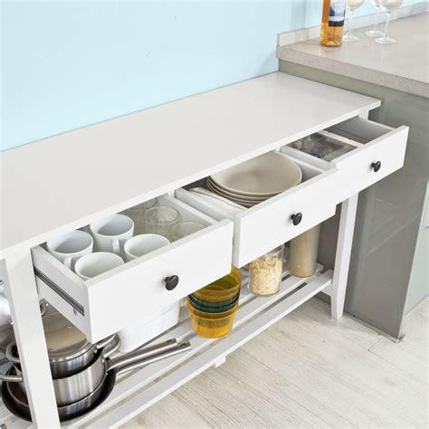 muebles con estantes mueble aparador para sal 243 n o cocina en madera blanca con