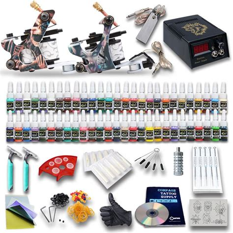 beginners tattoo kit beginner kits 2 machines 54 inks best seller 400