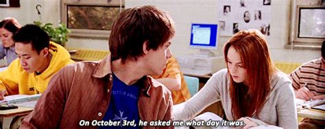 October 3rd Meme - gif mine 3 mean girls lindsey lohan october 3rd jonathan