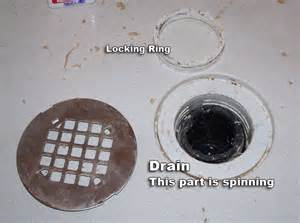 removing compression nut of shower drain