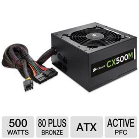 Power Supply Corsair Cx 500 W corsair cx 500w modular cp 9020059 na power supply 80