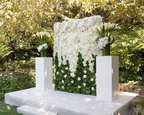 wedding backdrop rentals orange county large white floral wall wedding altar created and shared