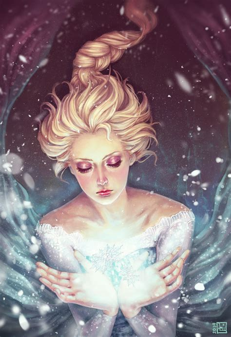 painting frozen frozen elsa by serafleur on deviantart