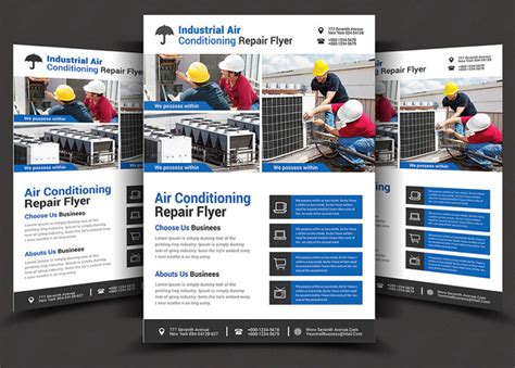 Air Conditioning Maintenance Template Air Conditioning Repair Flyer 2 Flyer Templates On