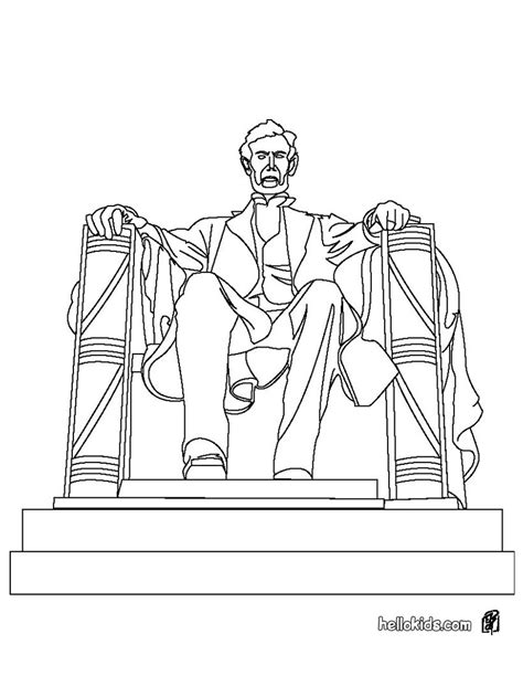 the united states symbols coloring pages lincoln