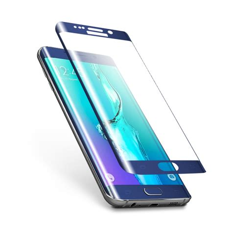 Samsung S6 Edge Tempered Glass 3d Screen Anti Gores Kaca 3d curved edge samsung galaxy s6 edge plus tempered glass screen protector guard