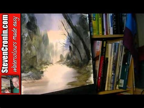 youtube watercolor tutorials forest stream watercolour painting tutorial youtube