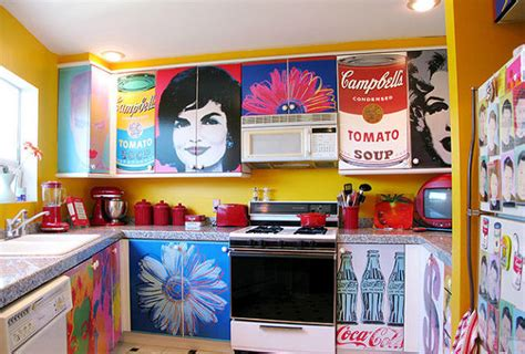 decoupage kitchen cabinets decoupage kitchen cabinets with andy warhol posters hometalk