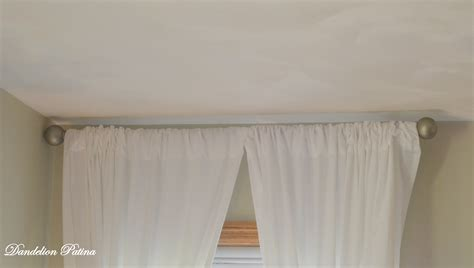 using sheets as curtains diy simple white sheet curtains dandelion patina