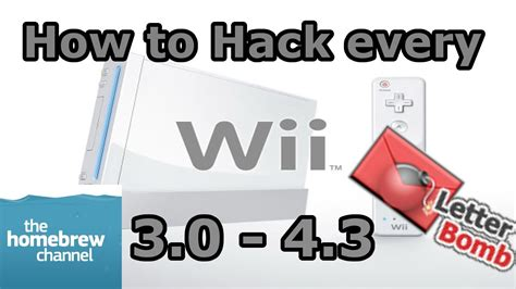 how to hack nintendo wii 43 homebrew channel letterbomb how to hack any nintendo wii 3 0 4 3 homebrew channel