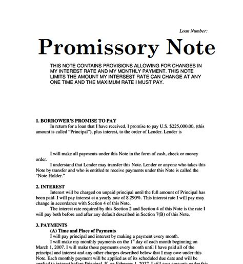 3 Benefits Of Signing A Goal Setting Promissory Note Promise To Pay Note Template