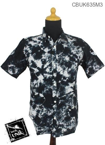 Baju Batik Hitam Putih Baju Batik Kemeja Motif Jumputan Hitam Putih Kemeja
