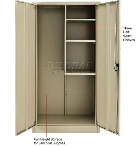 Janitorial Storage Cabinet Cabinets Janitorial Global Janitorial Cabinet Assembled 36x18x72 269903tn