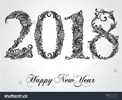solidworks 2018 black book colored books happy new year 2018 celebration background stock vector