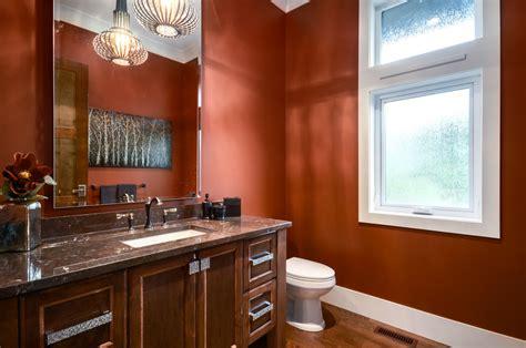 burnt orange paint color burnt orange paint color powder room transitional with