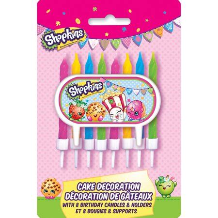 Button Shopkins 02 shopkins cake topper and birthday candles walmart