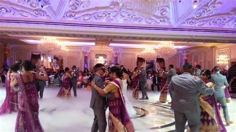 beautiful masquerade themed wedding entrance