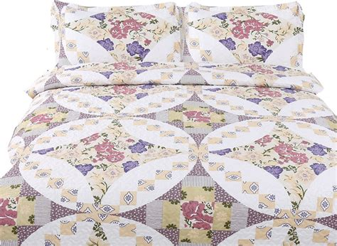 Wisteria Patchwork - wisteria roses patchwork quilt set rustic quilts and