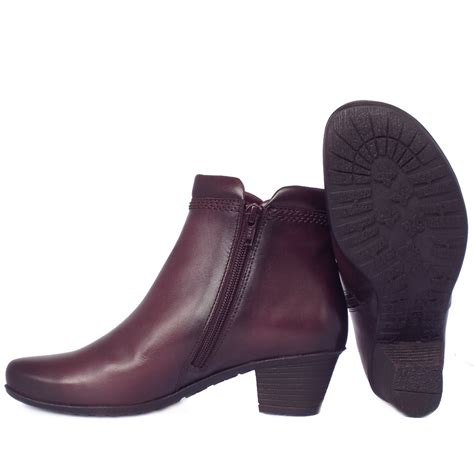 gabor winter boots wine leather ankle boots sound