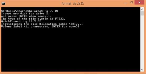 format flash disk using cmd how to format pendrive using command prompt in windows