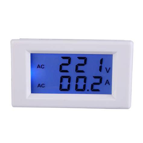 Best Quality Ac Digital Voltage Meter high quality digital ac 100 300v 50a ammeter voltmeter lcd volt panel meter white in voltage